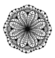 circle flower ornament vector image