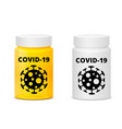 covid-19 pills bottle vector image