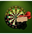dartboard with dart and blank table vector image