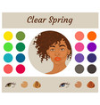 easonal color analysis palette for clear spring vector image vector image