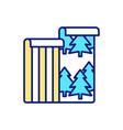 eco-friendly wallpaper rgb color icon vector image vector image