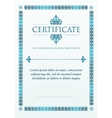 Elegant Classic Certificate of achievement vector image