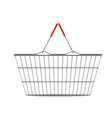 empty shopping basket realistic vector image vector image