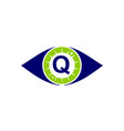 eye care solutions letter q vector image vector image