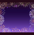 festive banner with fireworks vector image vector image