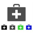 first aid bag flat icon vector image vector image