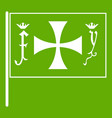 flag of columbus icon green vector image vector image