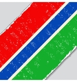 Gambia grunge flag vector image vector image