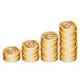 golden bitcoin coins vector image vector image