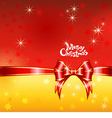 greeting card with Christmas ribbons and bows vector image