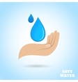 Hands water protect poster vector image vector image