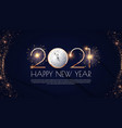 happy new 2021 year elegant gold text vector image vector image