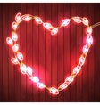 Happy Valentine s Day Wood Background with Bright vector image vector image