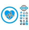 Heart Diagram Flat Icon with Bonus vector image vector image