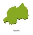 Isometric map of Rwanda detailed vector image vector image