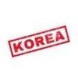 Korea Rubber Stamp vector image vector image