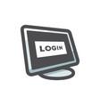 locked computer security icon cartoon vector image