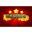 logo text casino and gold coins for ui game vector image vector image
