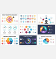 marketing infographic cycle diagram global vector image