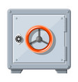 metallic safe box with closed door for money vector image vector image