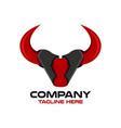 modern bull head logo vector image