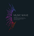 music wave in the form of vector image vector image
