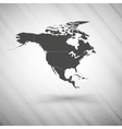 North america map on gray background grunge vector image
