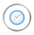 Office clock icon in cartoon style isolated on vector image vector image