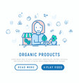 organic shop concept woman with vegetables vector image