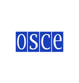 osce organization for security and co operation vector image vector image