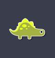 paper sticker on stylish background dinosaur vector image vector image