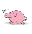 pig sleeping vector image vector image