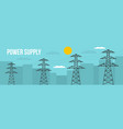 power supply banner flat style vector image