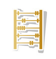 retro abacus sign golden gradient icon vector image vector image