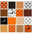 set seamless halloween patterns vector image vector image