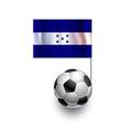 Soccer Balls or Footballs with flag of Honduras vector image vector image