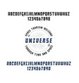 space - a banner planets in universe can be vector image vector image