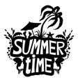 summer time sign vector image vector image