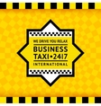 Taxi symbol with checkered background - 13 vector image