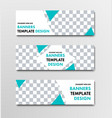 template of white horizontal web banners with vector image
