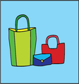 three bags vector image vector image