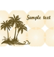 Tropical Palms and Grass Silhouettes vector image vector image