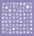 white snowflakes collection isolated on purple vector image