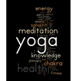 YOGA Word cloud concept vector image vector image
