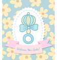 Welcome Baby Card with Rattle vector image