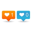 Like Counter Notification Icons vector image