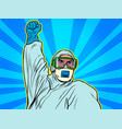 a doctor in full protection suit resistance vector image