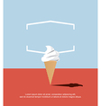 Abstract ice cream vector image vector image