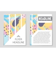 Abstract layout background set For art vector image vector image