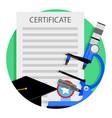 academic education icon vector image vector image